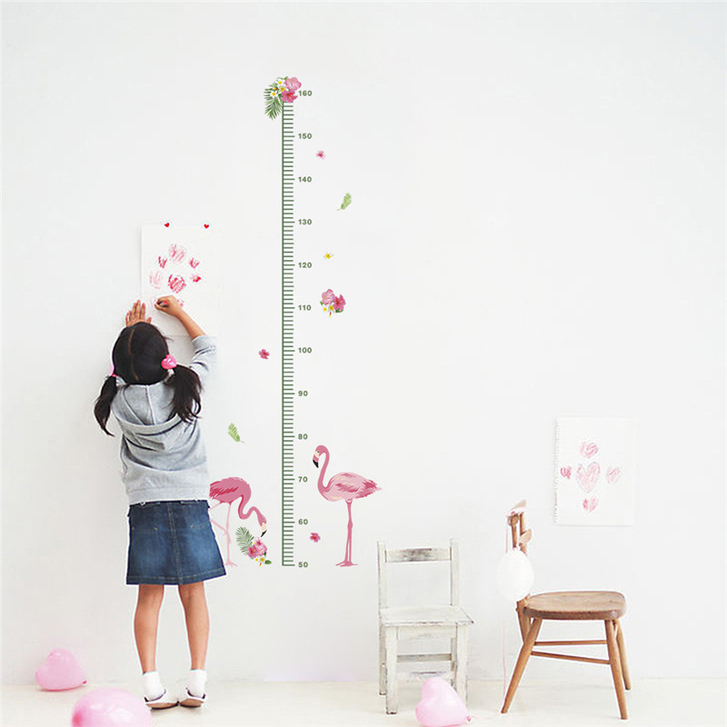 Aliexpress Buy Flamingo Height Measure Stickers Kids Growth