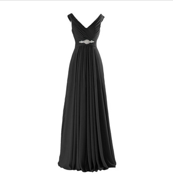 Stunning Unique Evening Dress New Styles Big V-Neck Backless Sleeveless Crystal Beading Floor Length Party Dresses Abendkleid