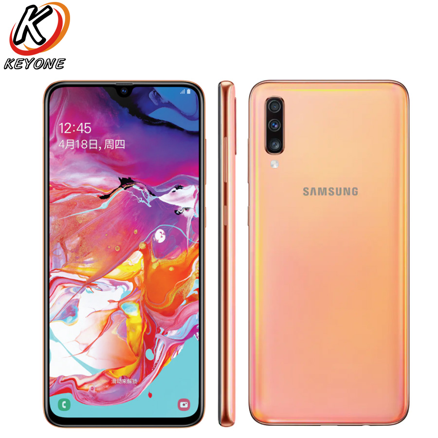 """Image 3 - New Samsung Galaxy A70 A7050 Mobile Phone 6.7"""" 6GB RAM 128GB ROM Snapdragon 675 Octa Core 20:9 Water Drop Screen NFC CellPhoneCellphones   -"""