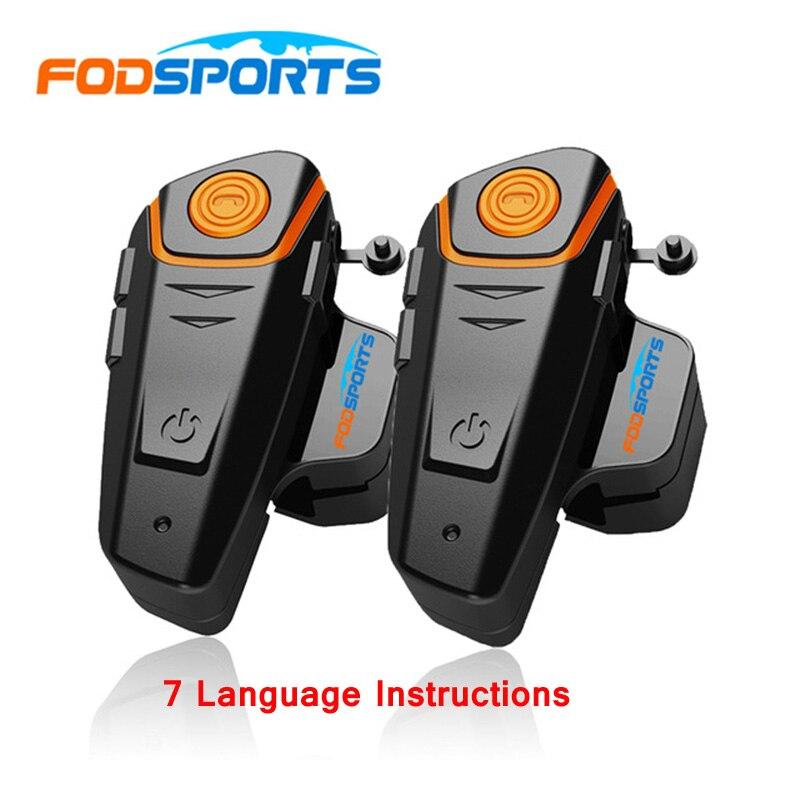 2 pièces BT-S2 Pro Moto Interphone Sans Fil Bluetooth Casques 1000 m Moto Casques BT Interphone avec FM Imperméable IPX6