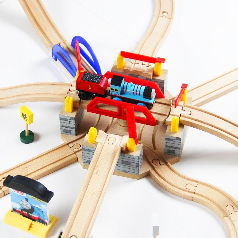 Train Toys Thomas Railway Track TTC55 T-BRIDGE Thomas And Friends Truck Tomas Car Brio Toys for Boys Engine Models Building Toy