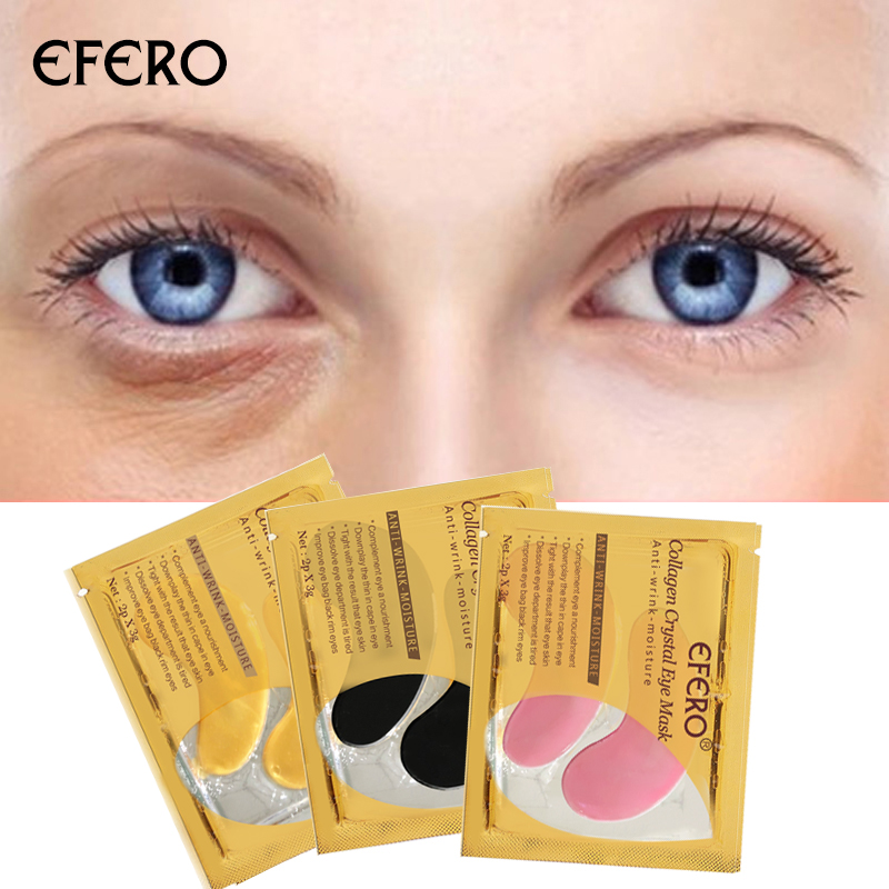 EFERO 16pcs 8pair Gold Eye Mask Serum for Eyes Care Moisturizing Dark Circles Anti Aging Eye Patches Crystal Collagen Eye Mask in Creams from Beauty Health
