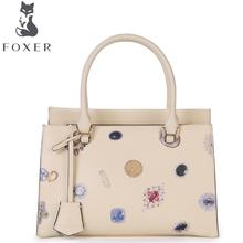 FOXER2016 new luxury fashion Superior Cowhide Leathe handbags brand-name products 100% high-quality women well-known