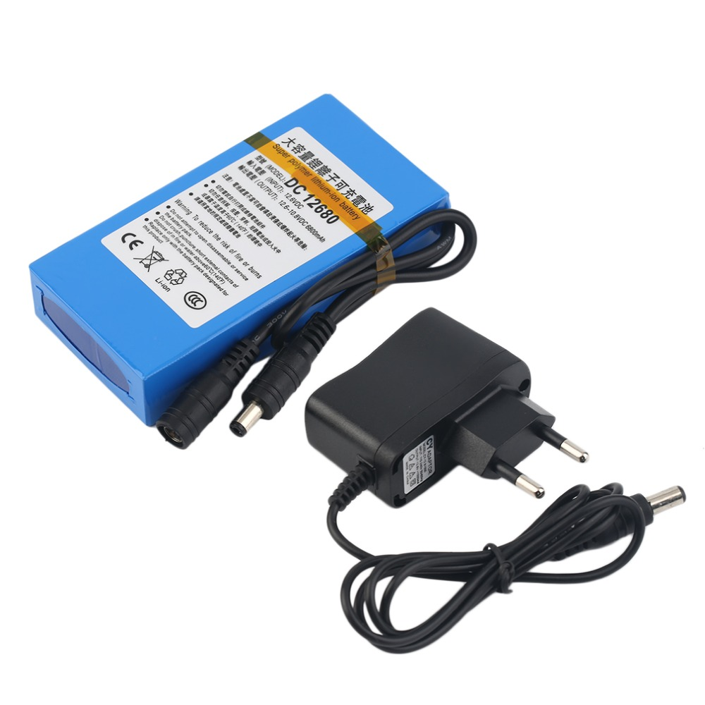 LESHP DC 12V 6800MAH Rechargeable Battery Pack Replacement Li-ion Battery Pack Replacement Power Tool batteries For CCTV Camera