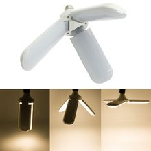 Foldable LED Ceiling Lamp Fan Blade Angle Light Super Bright E27 Bulb Energy Saving