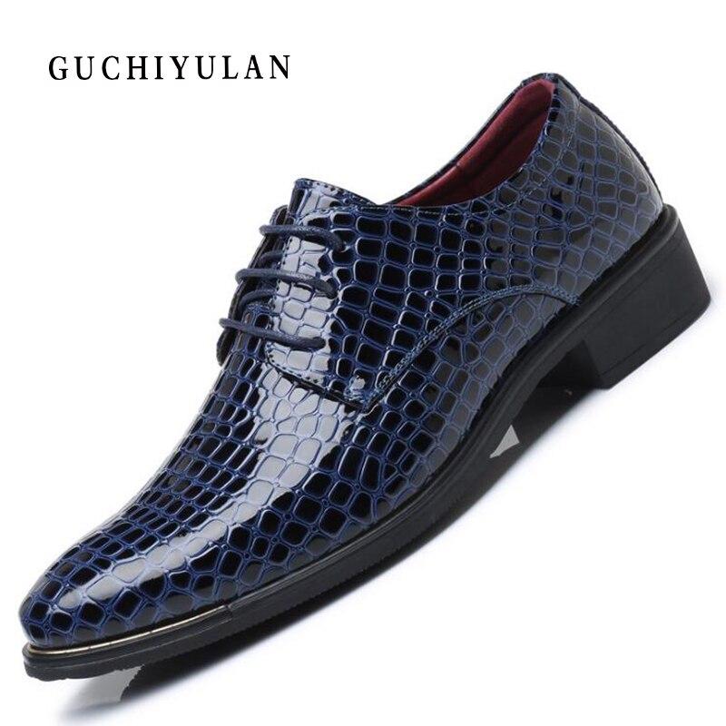 2019 Nova Moda Crocodile Pattern PU de Couro de Corte Baixo Sapatos de Inicialização Dos Homens Slip-on Sapatos De Negócios Masculino Cor Sólida sapatos Formal Vestido