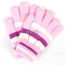 Детские Волшебные эластичные варежки для девочек и мальчиков, вязаные перчатки, зимние теплые N09