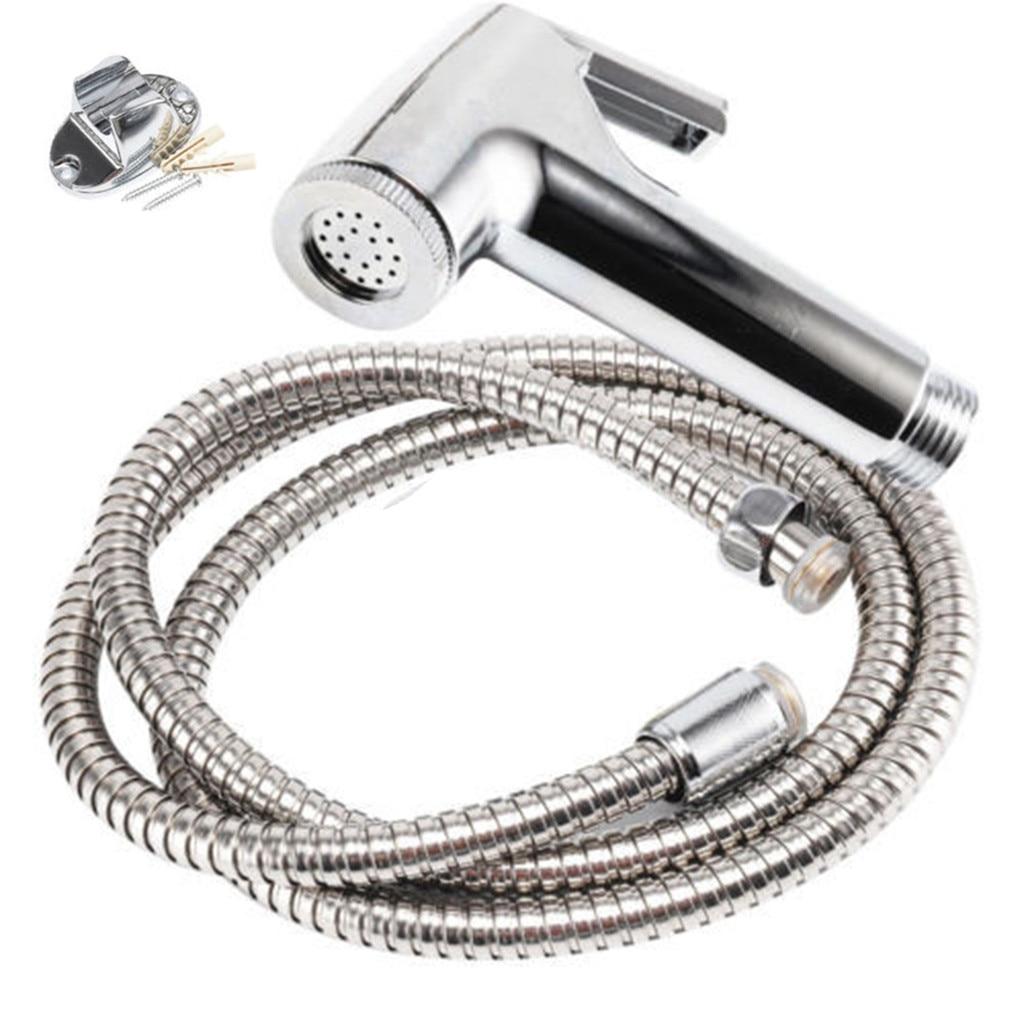 Us 6 32 56 Off Useful Faucet Extender Bidet Spray Chrome Hygienic Toilet Shower Head Hose Set Bathroom Accessories Faucet Extender In Faucet
