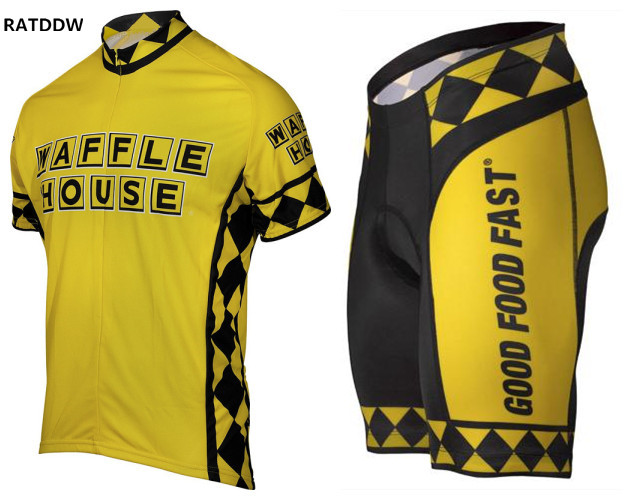 2017 Waffle House Yellow Bike Cycling Clothing Cycle Cycling Jersey/Breathable Mountain Bicycle Wear Sportswear Roupa Ciclismo2017 Waffle House Yellow Bike Cycling Clothing Cycle Cycling Jersey/Breathable Mountain Bicycle Wear Sportswear Roupa Ciclismo