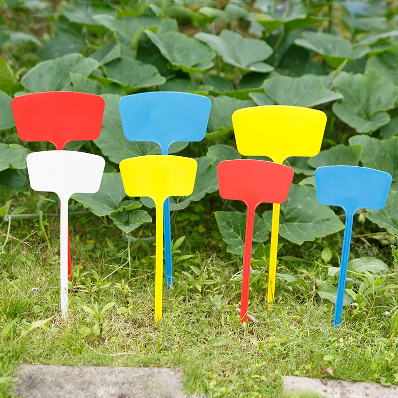 10 Pcs 36cm T Type Plastic Plant Tags Markers Nursery Garden Label Flower Tag Marker Stick In Pots From Home On