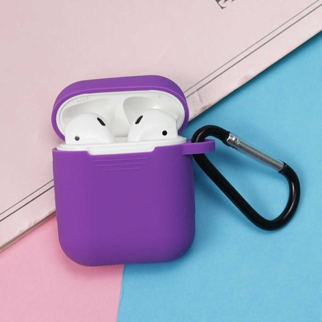لينة سيليكون الجلد حالة ل Airpods شحن حالة الغطاء الواقي Prtotector غطاء مربع ل أبل Airpods الهواء القرون متعددة اللون