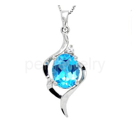 Natural blue topaz necklace pendant origin real blue topaz 925 natural blue topaz necklace pendant origin real blue topaz 925 sterling silver 16ct gem for men or women 16091401 in pendants from jewelry accessories mozeypictures Gallery
