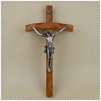 Catholic Christian Activities Cross Crucifix 30*16cm Relics Exquisite Teak Rood Jesus Cross Figure Jesu lamb of god figures