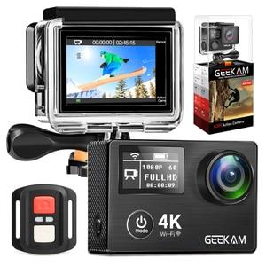"""Image 3 - GEEKAM Action Camera K3R/K3 Ultra HD 4K/30fps 20MP WiFi 2.0"""" 170D Dual Screen Underwater Waterproof Helmet Bike Sports Video Cam"""
