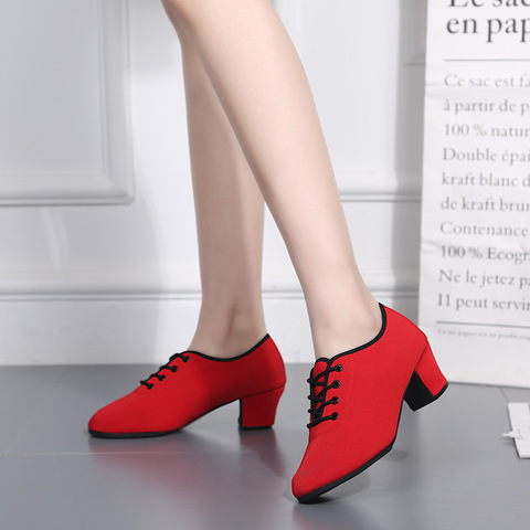 Sports Shoes Canvas Latin Dance Shoes Woman Adult Modern Ballroom Dance Shoes Teacher Shoes Oxford With Two Points Sneakers Islamabad