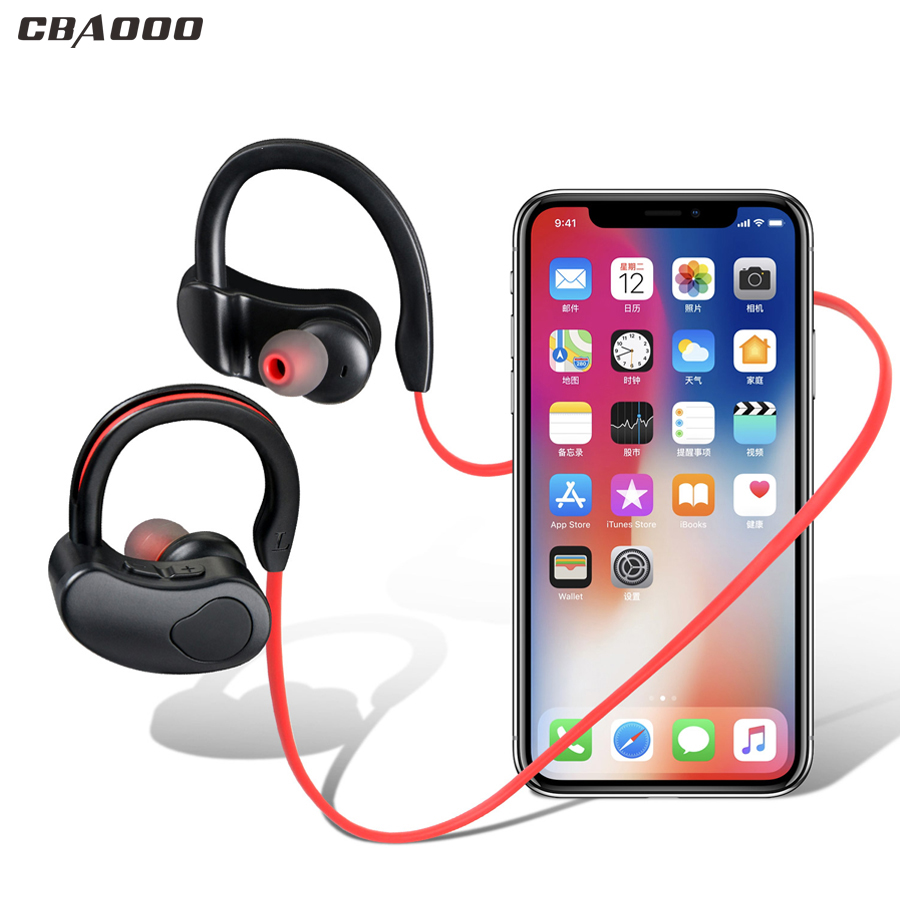 CBAOOO K100 Wireless Bluetooth Earphone Headphone Sport Bass Stereo Headset Wireless Earbuds Handsfree with Mic for Phone xiaomi original stereo v4 1 bluetooth headset sport wireless bluetooth headphone earphone earbuds with mic for xiaomi samsung iphone