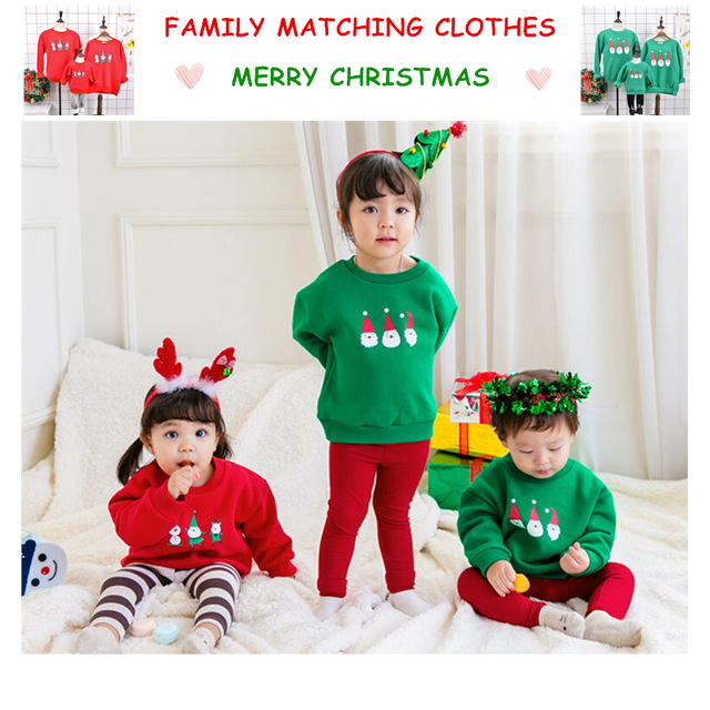 Family christmas pajamas matching clothing father son cashmere hoodies matching outfits mommy and me daughter clothes