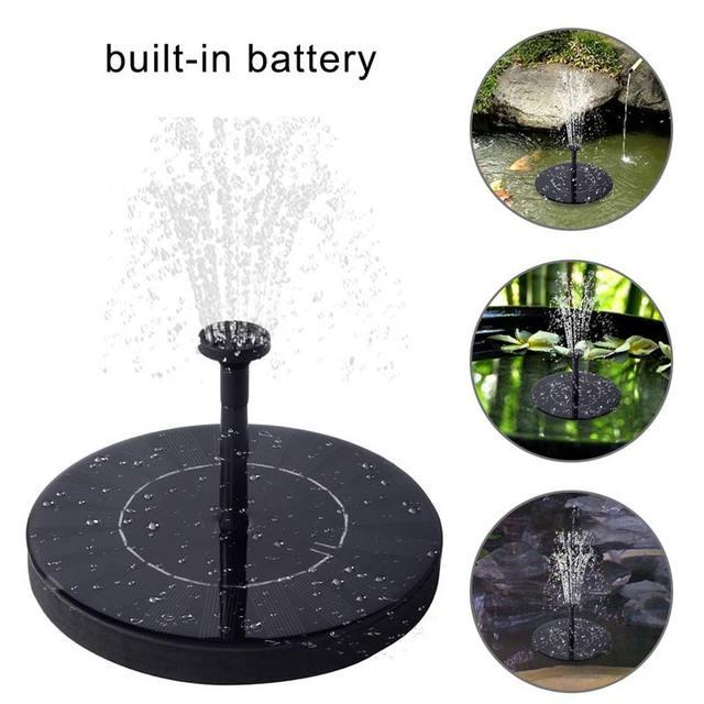 Artificial Outdoor Solar Power Fountain Pump Solar Powered Fountain Bird  Bath For Garden Pool Fish Tank