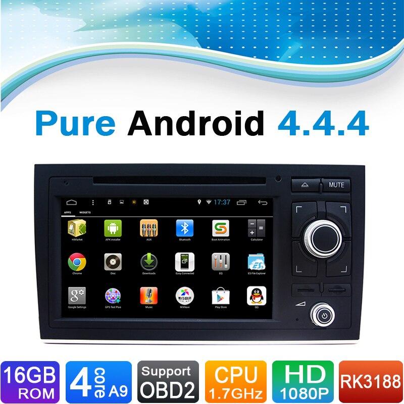 16GB iDand Flash, 4 Core, Android 4.4.4 עבור אאודי A4 - אלקטרוניקה לרכב