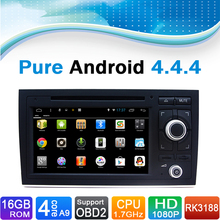 16 GB iNAND Flash, 4 núcleo, android 4.4.4 Para Audi A4 autoradio DVD de navegación para Audi A4 radio auto para Audi A4 (2002-2008.9)