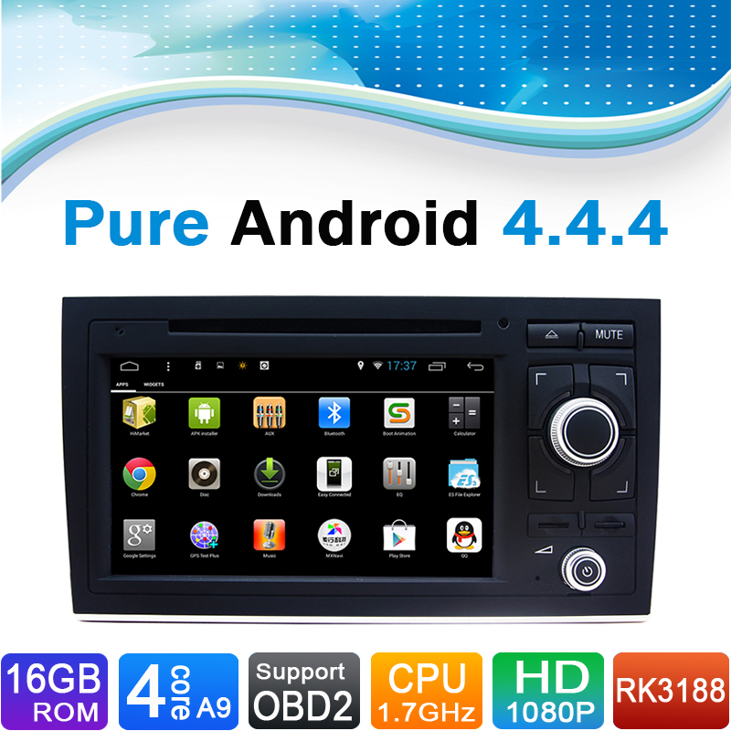 16GB iNand Flash, 4 Core, Android 4.4.4 For Audi A4 Autoradio DVD Navigation For Audi A4 Auto radio for Audi A4(2002 2008.9)