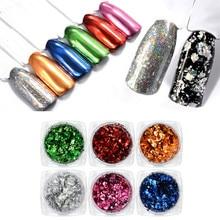 Nail Art Colorful Foil Powder Firework & Mirror Effect Laser 1PC Manicure Beauty DIY Pro Decorations F407
