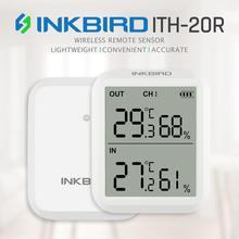 Inkbird ITH 20R Digital Hygrometer Indoor Thermometer Humidity Gauge with 1Transmitter Accurate Temperature Aquarium Room Garage