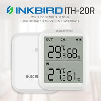 Inkbird ITH 20R Digital Hygrometer Indoor Thermometer Humidity Gauge with 1Transmitter Accurate Temperature Aquarium Room Garage