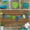 HAOCHU 1Set Paper Coconut Leave Bunting Garland Banner Birthday Party Decor Hawaiian Wedding Children S Room