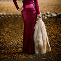 Burgundy Sequins Maxi Skirts High Waist Mermaid Floor Length Long Skirts Women Shiny Sequined Maxi Skirt Saia Longa