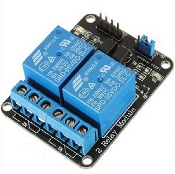2 Channel Relay 5v with light coupling protection expansion board have a single way 2 road