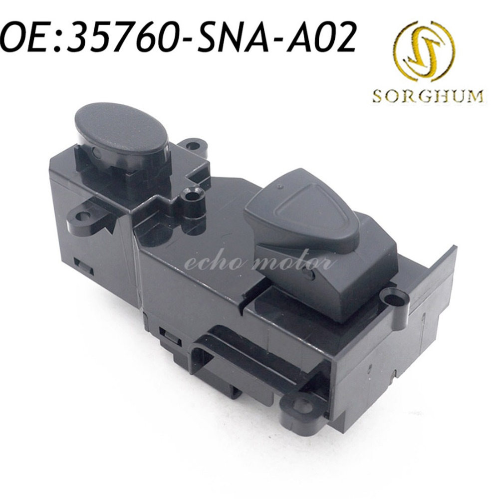 New 2pcs 35760-SNA-A02 Front Right Side Power Master <font><b>Door</b></font> Window Switch For 2005-2009 Honda <font><b>Civic</b></font> 35760SNAA02 image
