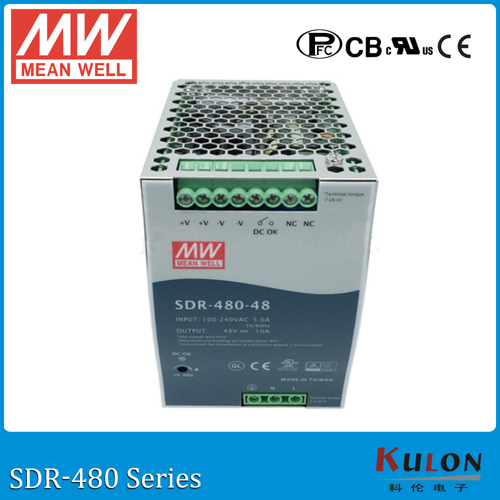 цена на Original MEAN WELL SDR-480-24 Single Output 480W 24V 20A Industrial DIN Rail Power Supply SDR-480 with PFC