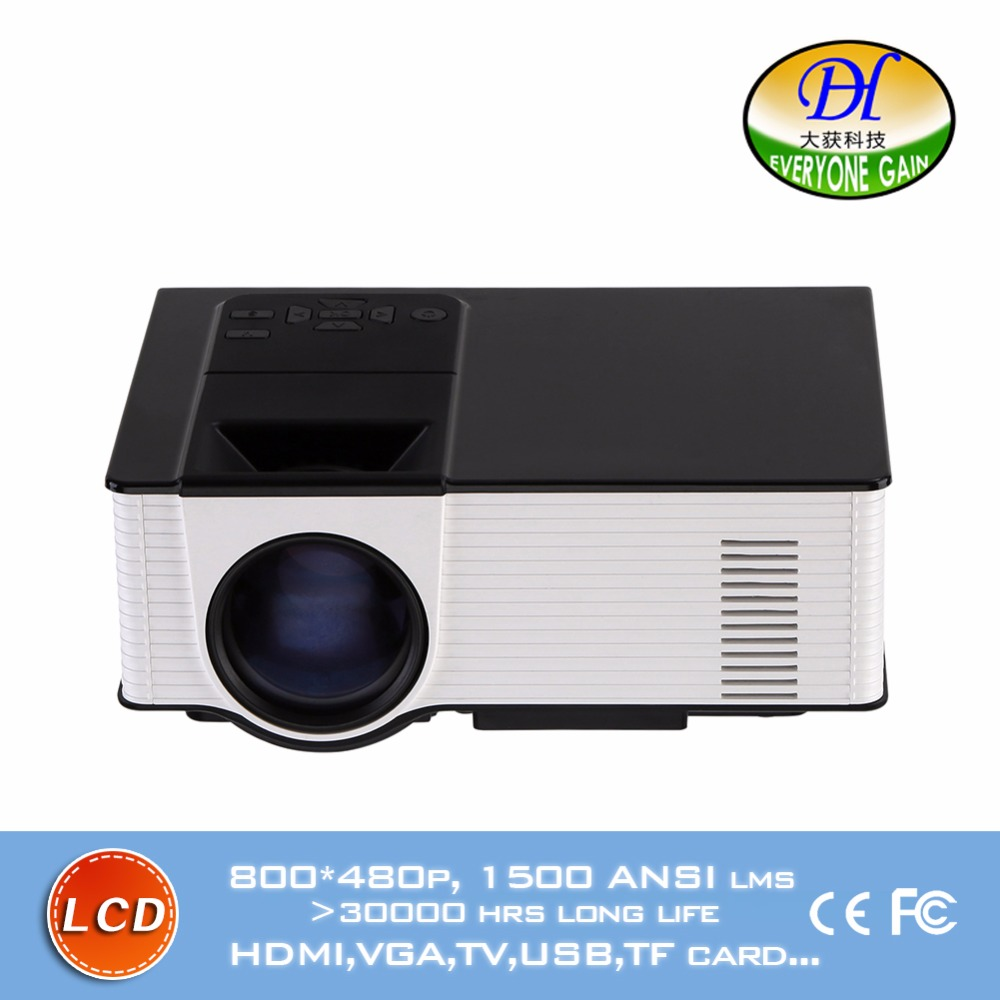 DH-mini298+ LCD Video Support TV Play Projector Portable Manual Focus Proyector Home Theater Build-in 2W Speaker Beamer