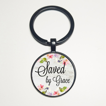 By GRACE NECKLACE, Charm Pendant, Her Gift, Faithful Charm Keychain, Warrior Charm, Survivor, Faith NECKLACE Salvation god is in your keychain charm pendant gift for her faithful charm key chain god is in her heart she will not poetry charm