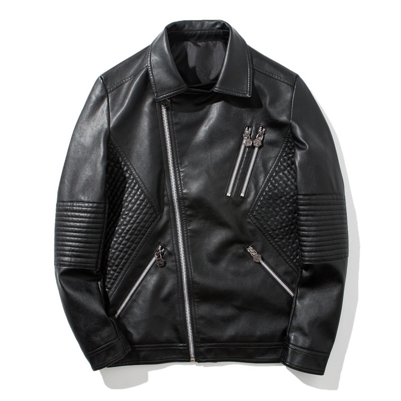 Autumn And Winter New Leather Jacket Male Lovers Fashion Motorcycle Leather Clothing High Quality Lapel Mens Leather Jacket