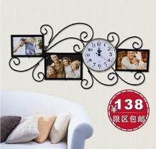 Fashion fashion photo frame wall clock two-in-one tieyi unique photo frame decoration photo frame wall clock