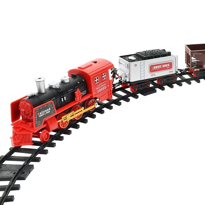 New Remote Controlled Train Electric Rc Train Sets Remote Toys For Children Railroad Tracks Rc Model Train Remote Control
