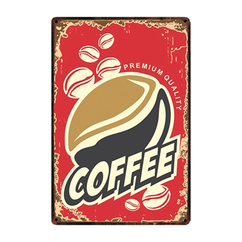 Mike86 Menu Coffee Shop Black Cafe Vip Tin Sign Custom Poster Personality Classic Metal Painting Decor Art ZZ 05 in Plaques Signs from Home Garden