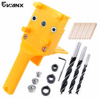 Dowel Jig 6 8 10mm Wood HSS Drill Bits Woodworking Jig ABS Plastic pocket hole jig Drill Guide Tool For Carpentry