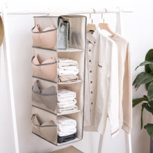 1pcs Multifunction Oxford Hanging Storage Bag Folding Wardrobe Organizer For Underwear Socks Women Bag Solid Closet Organizer
