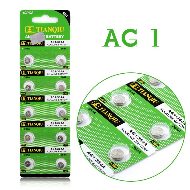 eChange TECHNOLOGY CO., LTD 10Pcs/Lot RETAIL LONG LASTING AG1 364 LR621 164 531 SR60 SR621SW 1.55V Watch Battery Button Coin Cell  100% Original Brand