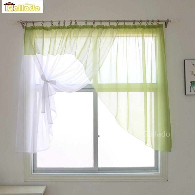 Fashion Europe Irregular Design High Quality Sheer Window Curtains For Livingroom Kitchen Balcony  1PCS