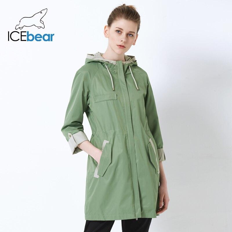 4156bffc979 ICEbear 2019 новый женский плащ свободно женская куртка высокого качества с  капюшоном бренда GWF18003I
