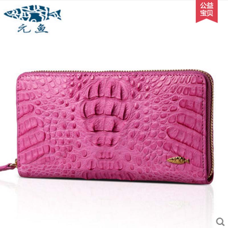 yuanyu 2018 new hot free shipping Thai crocodile handbag korea edition tide female long wallet leather bag  fashion ladies bag