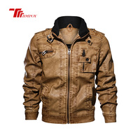 Men Jacket Design Stand Collar Male Casual Motorcycle Leather Jacket Mens Fashion Veste en cuir men jackets 2805