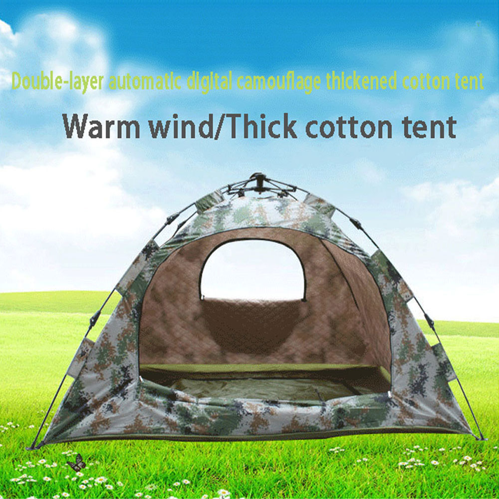 Outdoor Portable  Camping Tent Camouflage 1-2 Person Waterproof  Beach fishing hunting Tent
