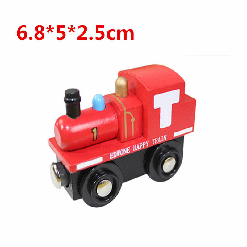 EDWONE wooden magnetic train for Tmas wooden tracks can be connected to the Tmas train variety wooden train E1 Champion Jame