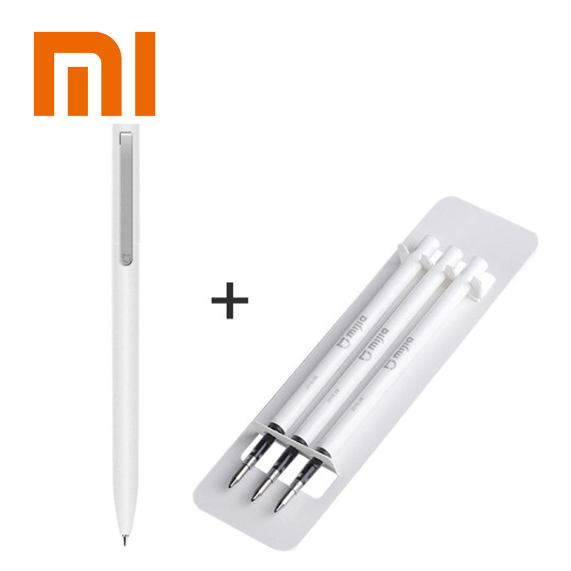 Original Xiaomi Mijia Sign Pens 9 5mm Signing Pens PREMEC Smooth Switzerland Japan Black Ink Refill