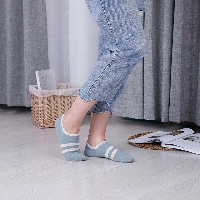 5 paires/lot nouveau femmes chaussettes décontracté printemps été cheville chaussettes imprimer haute qualité coton chaussette pour femme Calcetines Mujer 2019